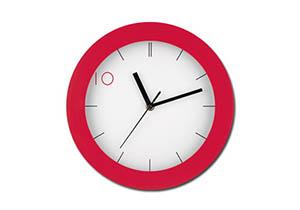 Настенные часы с лготипом фото